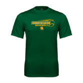 Performance Dark Green Tee-Southeastern Baseball w/ Ball