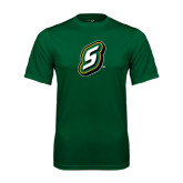 Performance Dark Green Tee-S