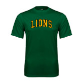 Performance Dark Green Tee-Arched Lions