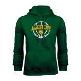 Dark Green Fleece Hood-Lions Basketball w/ Ball