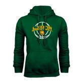 Dark Green Fleece Hood-Lions Basketball w/ Ball