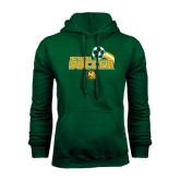Dark Green Fleece Hood-Southeastern Soccer Swoosh w/ Ball