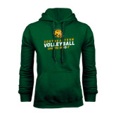 Dark Green Fleece Hood-Volleyball Can You Dig It