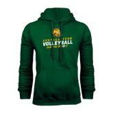 Dark Green Fleece Hood-Volleyball Can You Dig It