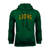 Dark Green Fleece Hood-Arched Lions