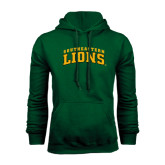 Dark Green Fleece Hood-Arched Southeastern Lions
