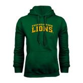 Dark Green Fleece Hood-Arched Southeastern Lions