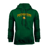 Dark Green Fleece Hood-Arched Southeastern Louisiana
