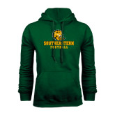 Dark Green Fleece Hood-Football