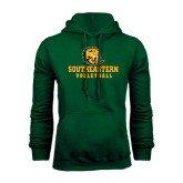 Dark Green Fleece Hood-Volleyball