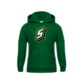 Youth Dark Green Fleece Hoodie-S