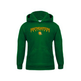 Youth Dark Green Fleece Hoodie-Arched Southeastern Louisiana