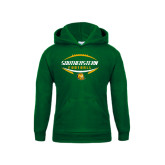 Youth Dark Green Fleece Hoodie-Southeastern Football