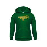 Youth Dark Green Fleece Hoodie-Southeastern Baseball w/ Ball