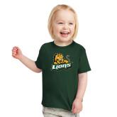 Toddler Dark Green T Shirt-Lions w/Lion