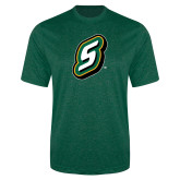 Performance Dark Green Heather Contender Tee-S