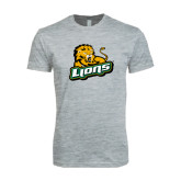 Next Level SoftStyle Heather Grey T Shirt-Lions w/Lion