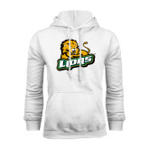 White Fleece Hoodie-Lions w/Lion