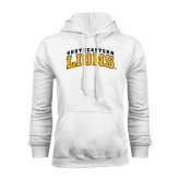 White Fleece Hoodie-Arched Southeastern Lions