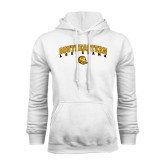White Fleece Hoodie-Arched Southeastern Louisiana