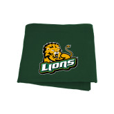 Dark Green Sweatshirt Blanket-Lions w/Lion