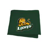Dark Green Sweatshirt Blanket-Lions w/Lion