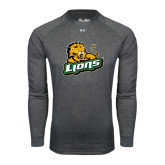 Under Armour Carbon Heather Long Sleeve Tech Tee-Lions w/Lion