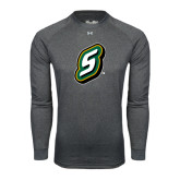 Under Armour Carbon Heather Long Sleeve Tech Tee-S