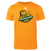 Adidas Gold Logo T Shirt-Official Logo