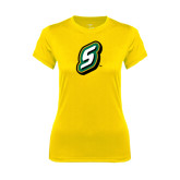 Ladies Syntrel Performance Gold Tee-S