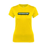 Ladies Syntrel Performance Gold Tee-Southeastern