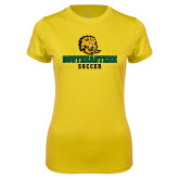 Ladies Syntrel Performance Gold Tee-Soccer