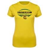 Ladies Syntrel Performance Gold Tee-Southeastern Football