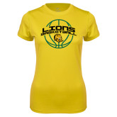 Ladies Syntrel Performance Gold Tee-Lions Basketball w/ Ball