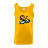 Gold Tank Top-Lions w/Lion