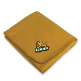 Gold Arctic Fleece Blanket-Lions w/Lion