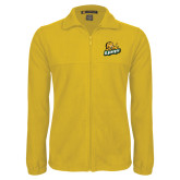 Fleece Full Zip Gold Jacket-Lions w/Lion