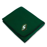Dark Green Arctic Fleece Blanket-S