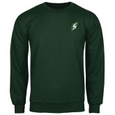 Dark Green Fleece Crew-S