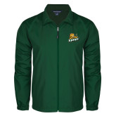 Full Zip Dark Green Wind Jacket-Lions w/Lion
