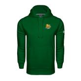 Under Armour Dark Green Performance Sweats Team Hoodie-Official Logo