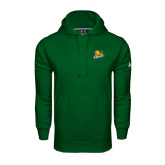 Under Armour Dark Green Performance Sweats Team Hoodie-Lions w/Lion