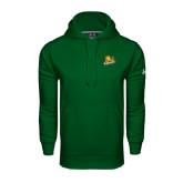 Under Armour Dark Green Performance Sweats Team Hoodie-Lions w/Lion