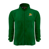 Fleece Full Zip Dark Green Jacket-Lions w/Lion
