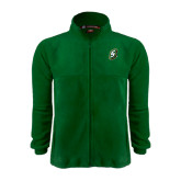 Fleece Full Zip Dark Green Jacket-S