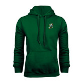 Dark Green Fleece Hood-S