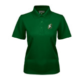 Ladies Dark Green Dry Mesh Polo-S