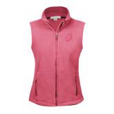 Ladies Fleece Full Zip Raspberry Vest-S