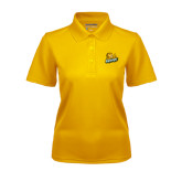 Ladies Gold Dry Mesh Polo-Lions w/Lion