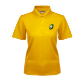 Ladies Gold Dry Mesh Polo-S